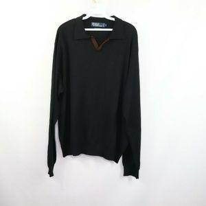 Polo Ralph Lauren Italian Yarn Wool Sweater Black
